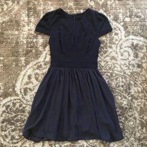 Deep v navy dress from Tobi